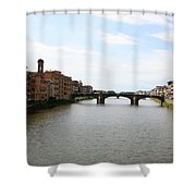 River Arno Shower Curtain