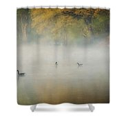River At Sunrise Shower Curtain