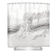River Beach Shower Curtain