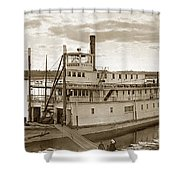 River Boat Yukon Stern Wheel Alaska 1915 Shower Curtain