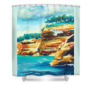 River Cliffs 2 Shower Curtain