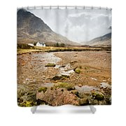 River Coupall In Glen Coe Shower Curtain