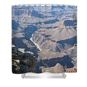 River Deep - Mountain High - Grand Canyon And Colorado River Shower Curtain
