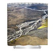 River Delta Iceland Shower Curtain