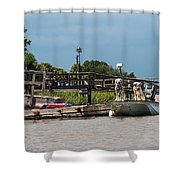 River Dogs Shower Curtain