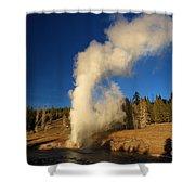 River Eruption Shower Curtain
