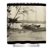 River Fishing Boats In Hoi An Shower Curtain