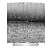 River Fog Shower Curtain