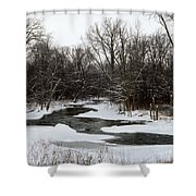 River Freeze Shower Curtain