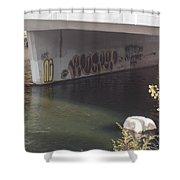 River Graffiti Shower Curtain