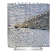 River Ice Star Shower Curtain