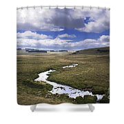 River In A Landscape Shower Curtain