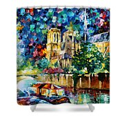 River In Paris Shower Curtain
