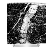 River In The Cliff Shower Curtain