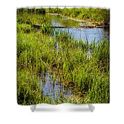 River Kennet Marshes Shower Curtain