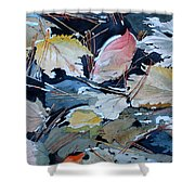 River Leaves Shower Curtain