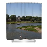 River Loire Fishing Boat Shower Curtain