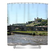 River Main With Fortress - Wuerzburg Shower Curtain