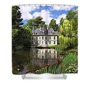 River Mansion Shower Curtain by Dominic Davison
