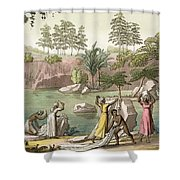 River Near San Benedetto, Madagascar Shower Curtain