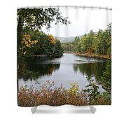 River North Conway Shower Curtain