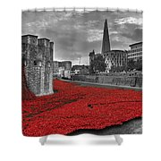 River Of Blood  Shower Curtain