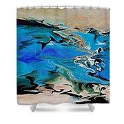 River Of Dreams Shower Curtain by Indira Mukherji
