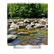 River Of Rocks Shower Curtain