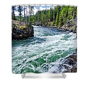River Power Shower Curtain