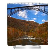 River Rafting At New River Shower Curtain