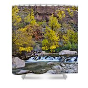 River Rapids In Zion Shower Curtain