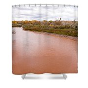 River Red New Mexico Shower Curtain