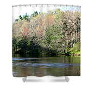 River Wind Shower Curtain