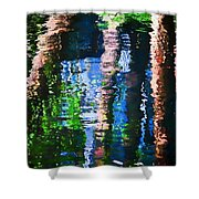 River Reflection Shower Curtain
