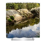 River Reflections IIi Shower Curtain by Marco Oliveira