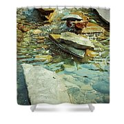 River Rock Path Shower Curtain