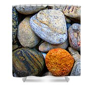 River Rocks 1 Shower Curtain