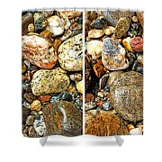 River Rocks 15 In Stereo Shower Curtain