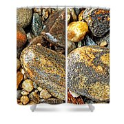 River Rocks 16 In Stereo Shower Curtain