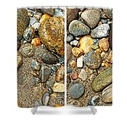 River Rocks 17 In Stereo Shower Curtain