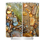 River Rocks 9 In Stereo Shower Curtain
