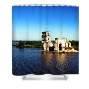 River Ruins Shower Curtain