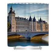 River Seine With Conciergerie Shower Curtain