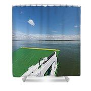 River Shannon Ferry, Tarbert-killimer Shower Curtain