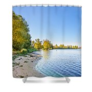 River Shore And Trees Shower Curtain