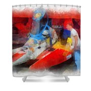 River Speed Boat Number 2 Photo Art Shower Curtain