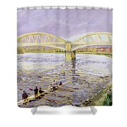 River Thames At Barnes Shower Curtain by Sarah Butterfield