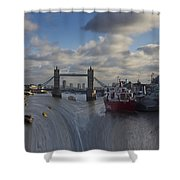 River Thames Waterfall Shower Curtain