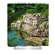 River Through The Rocks Shower Curtain