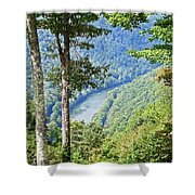 River Thru The Trees Shower Curtain